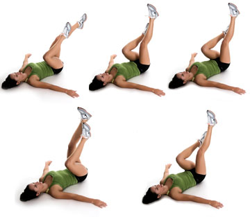 unweighted exercises leg cycle